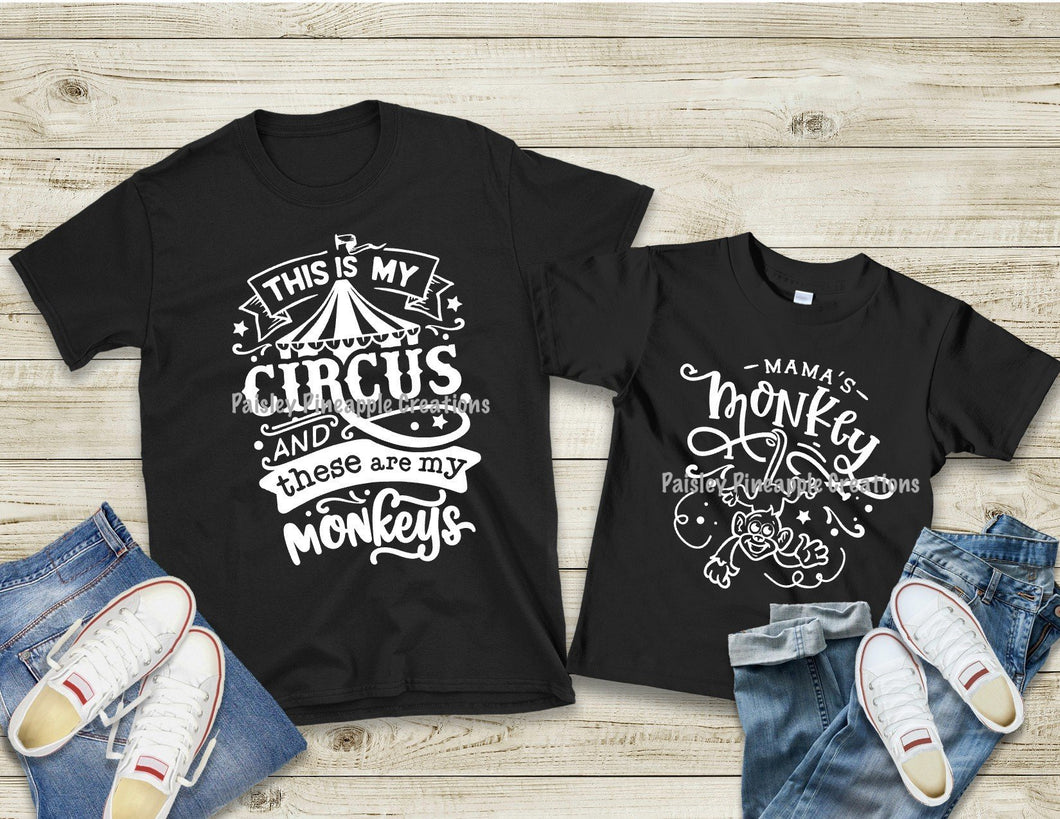 This Is My Circus / Mama's Monkey Mommy & Me Set