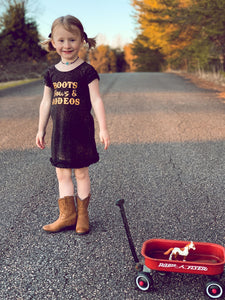 Boots, Bows, & Rodeos Tshirt Dress