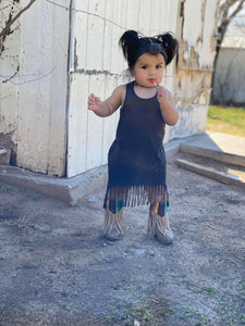 Darlin' Fringe Tank Dress
