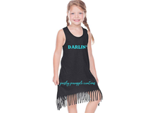 Load image into Gallery viewer, Darlin' Fringe Tank Dress