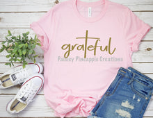 Load image into Gallery viewer, Grateful Adult Screen Print Shirt