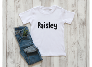 SALE Name Kids Shirt - Mystery Design Color
