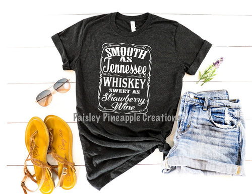 Tennessee Whiskey Adult Screen Print Shirt