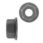 Hex Nut Flange Type Metric | Black | Screw Size: 5-.80mm | Head Size: 8mm | OD Washer: 11.80mm | OEM # GM: 11502722, 11502702
