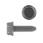 Indented Hex Flange Head CA Point Metric Type CA Body Bolt | Black | Screw Size: 6-1.0 x 20mm  | Head Size: 10mm | OD Washer: 13mm  | OEM # GM: 11503800