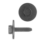 Indented Hex Head Loose Washer Metric Type CA Body Bolt | Black | Screw Size: 6-1.00 x 25mm | Head Size: 10mm | OD Washer: 24mm | OEM # GM: 11503982