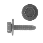 Indented Hex Head Loose Washer Metric Type CA Body Bolt | Black | Screw Size: 6-1.00 x 25mm | Head Size: 10mm | OD Washer: 17mm | OEM # GM: 11503834, 20351035