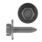 Indented Hex Head Loose Washer Metric Type CA Body Bolt | Black | Screw Size: 8-1.25 x 30mm | Head Size: 13mm | OD Washer: 24mm | OEM # GM: 11501188, 11500754