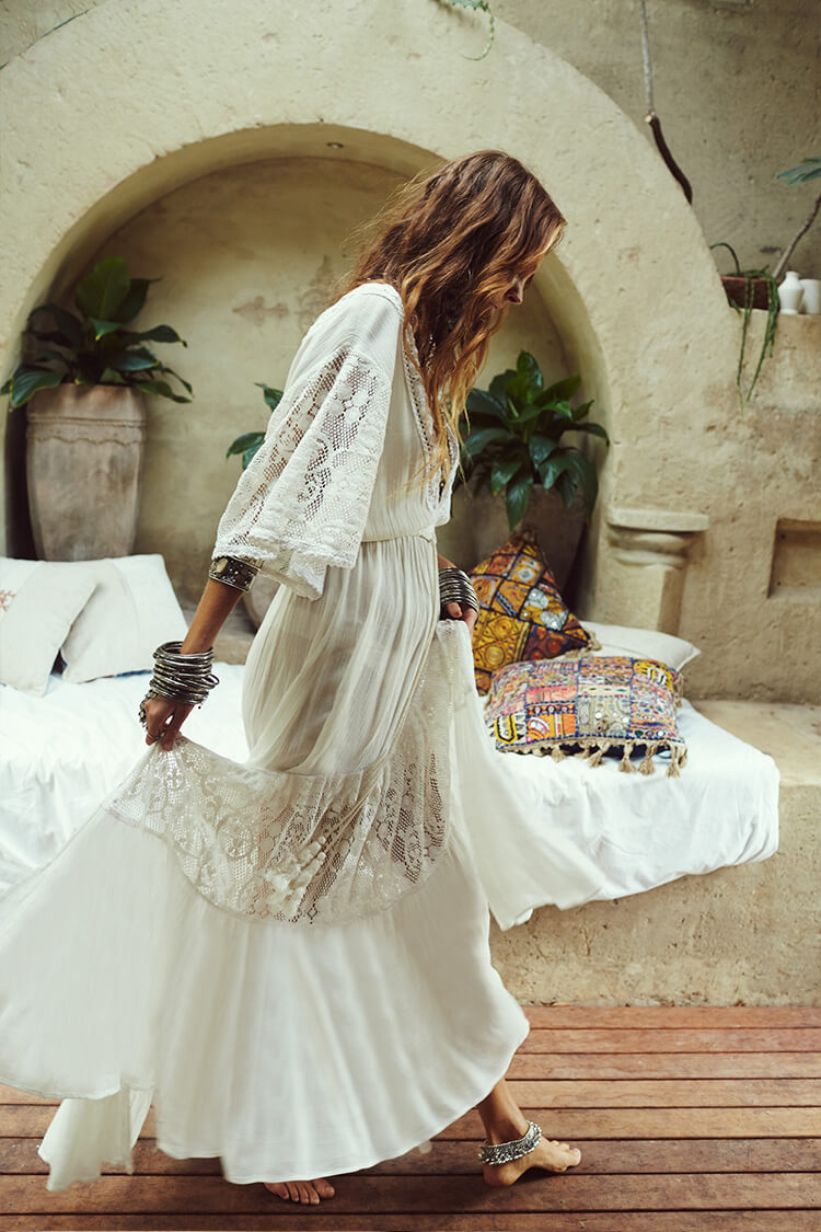 Lace Long Dress Cover Up