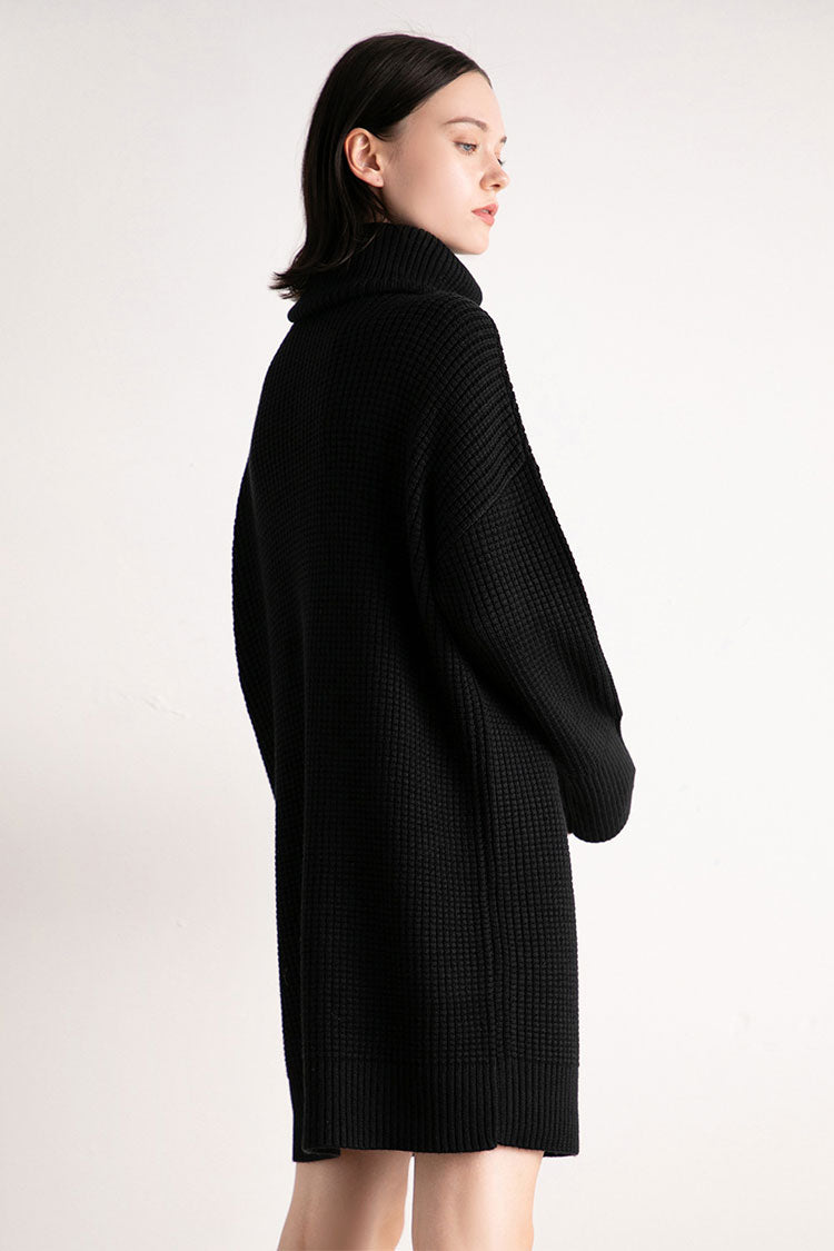 High Neck Loose Outline Long Sweater