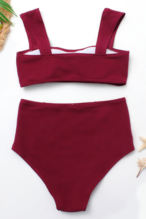 Wine Basic High Waist Bikini