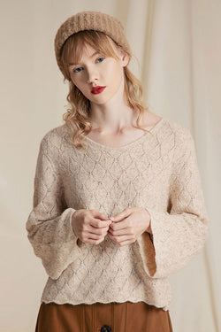 Vintage Wave Edge Hollow Sweater