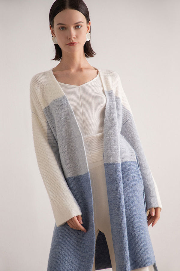Color Gradient Cardigan Sweater