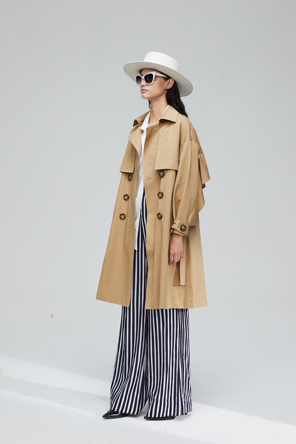 Classic Long Trench Coat
