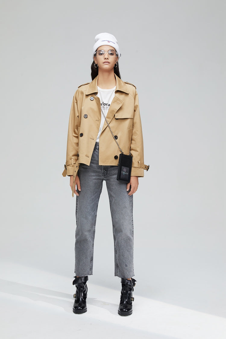 Belt Short Trench Coat