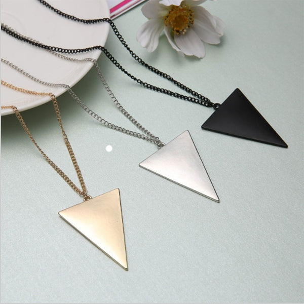 Punk Triangle Simple Retro Long Sweater Chain