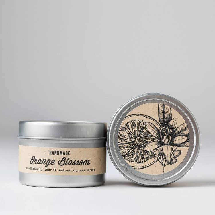 Orange Blossom Travel Tin Candle - Masala My Life