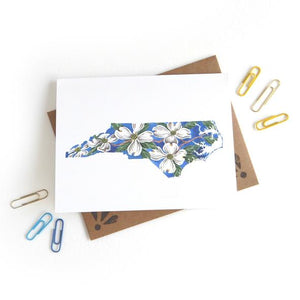 Sketchy Notions - North Carolina Dogwood Card - Masala My Life
