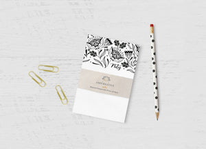 "Amicreative - Garden Blooms Notepad: 4""x6"""