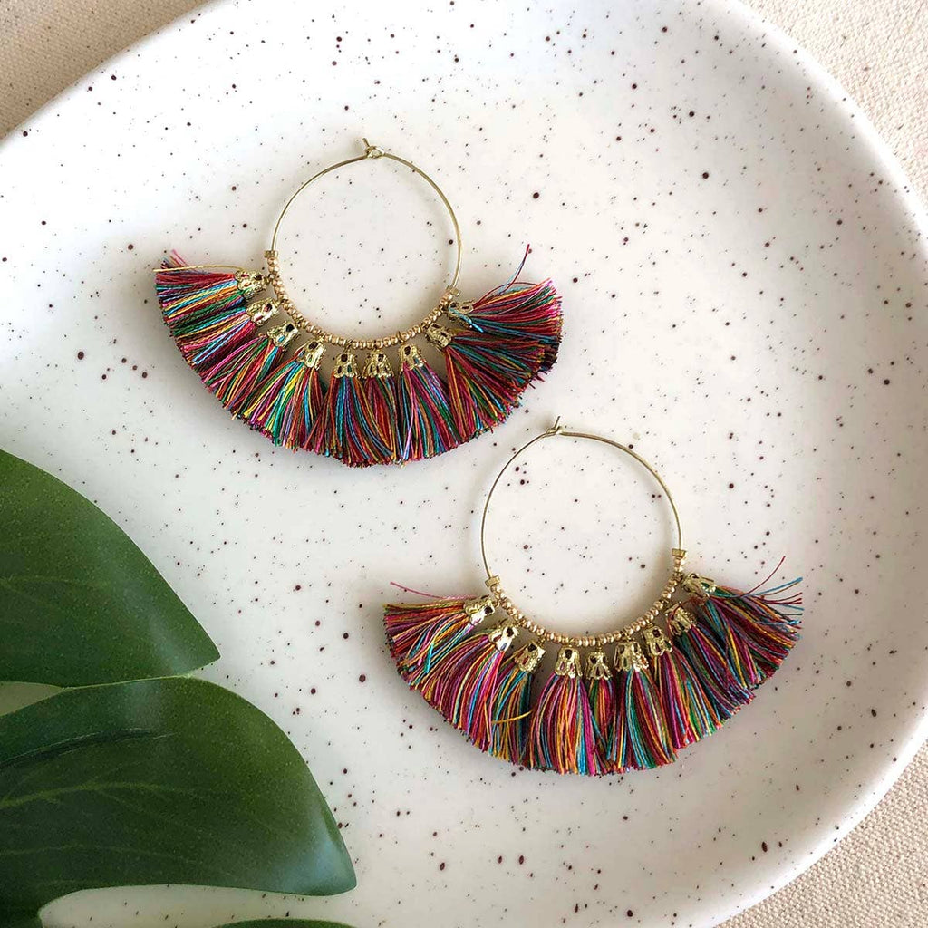 Multicolor Rainbow Hoops