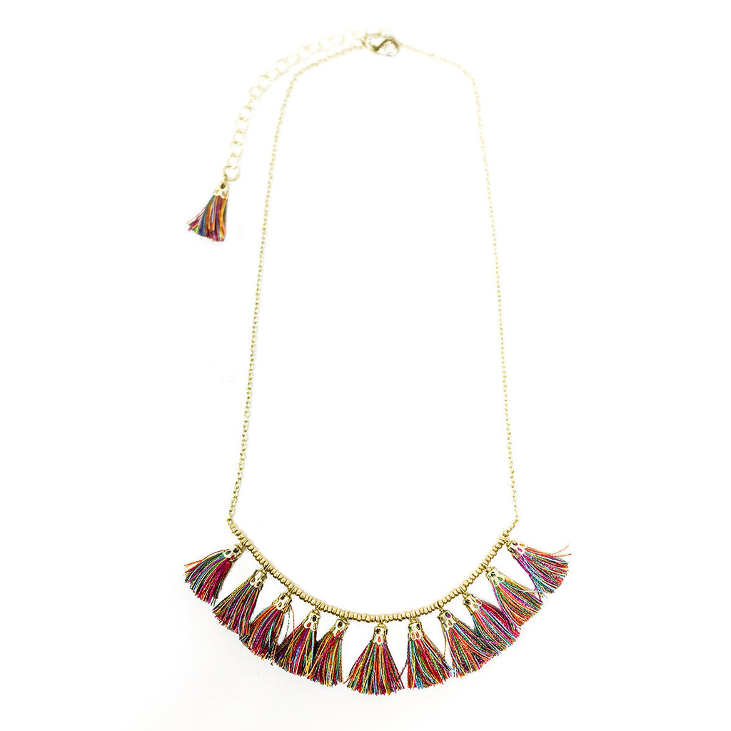 Multicolored Tassel Necklace - Masala My Life