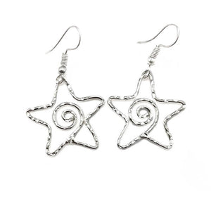 Silver Star Earrings