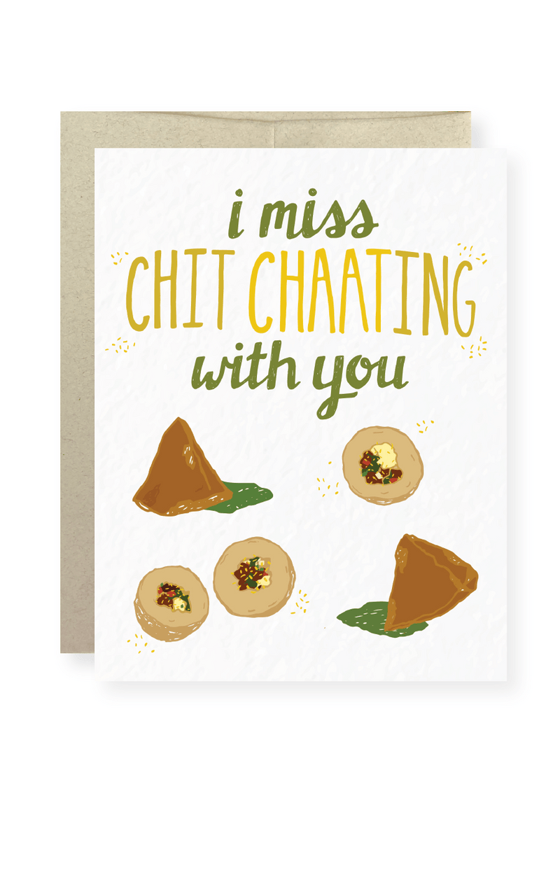 I Miss Chit Chaating With You Greeting Card - Masala My Life