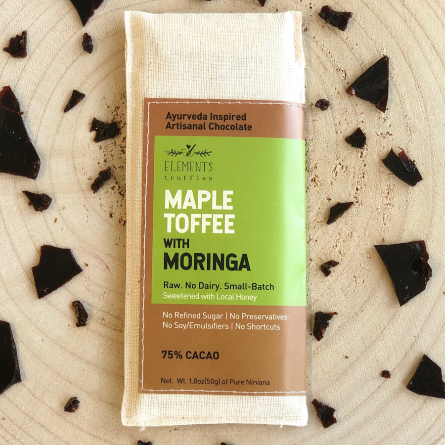Maple Toffee with Moringa Chocolate Bar - Masala My Life