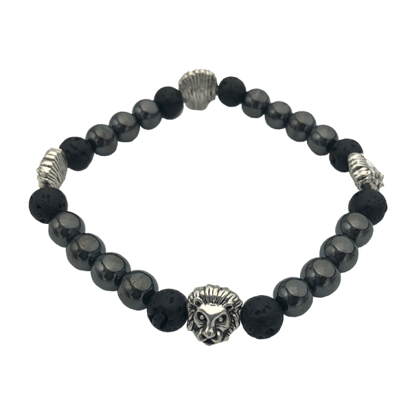 Beaded Bracelet with Lion Accents - Masala My Life