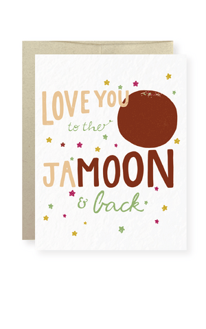 Love You to the Ja-Moon Greeting Card - Masala My Life