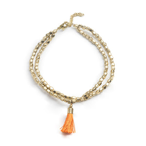 Gold Anklets with Tassel - Masala My Life