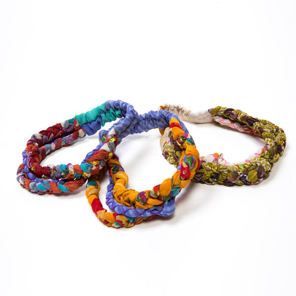 Colorful Braided Sari Headband - Masala My Life