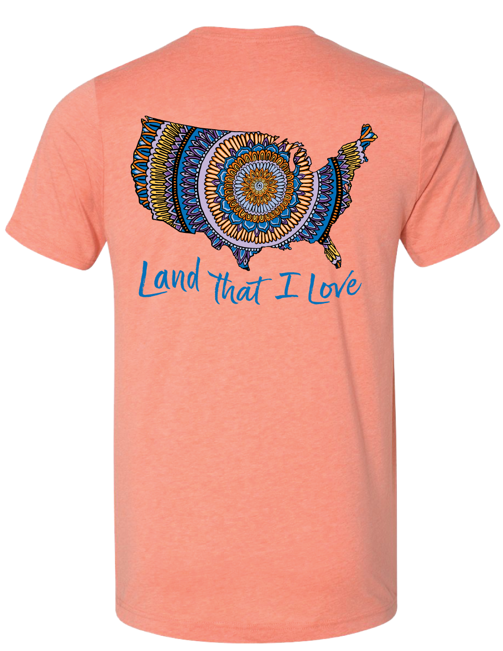 Land That I Love Mandala Map Tee (Sunset) - Masala My Life