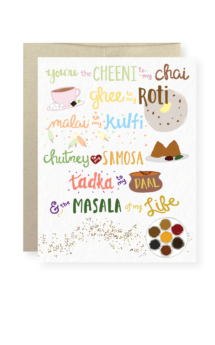 You're the Masala of My Life Greeting Card - Masala My Life