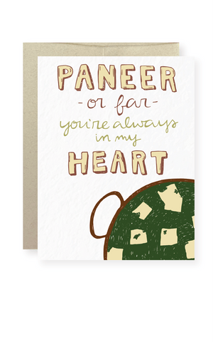 Paneer or Far Greeting Card - Masala My Life