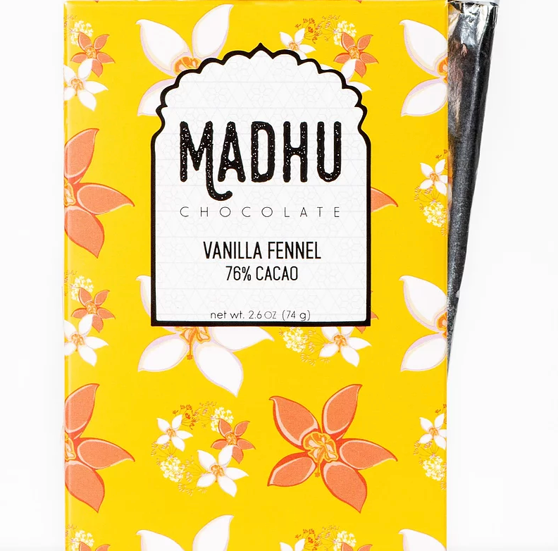 Vanilla Fennel Chocolate Bar