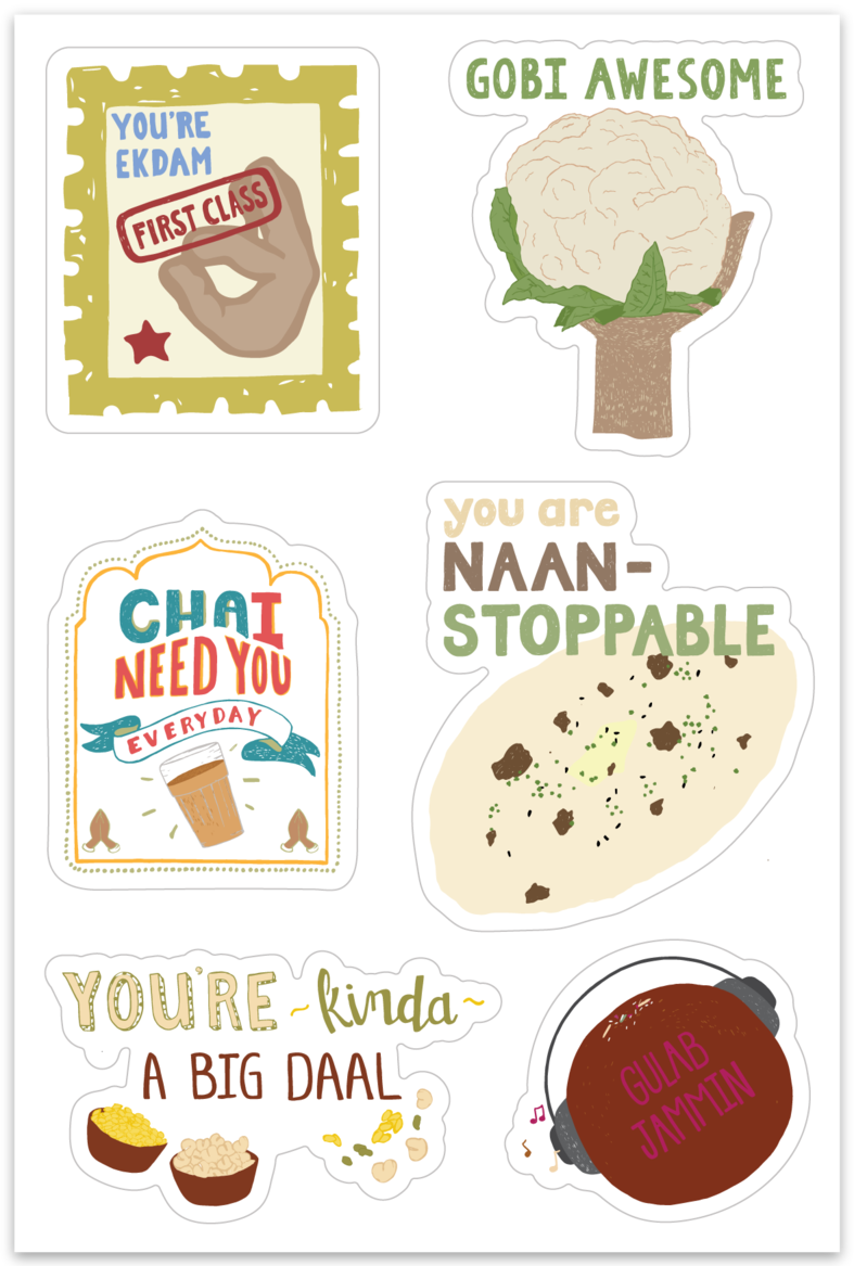 Fun and Giggles Stickers from Pyarful - Masala My Life