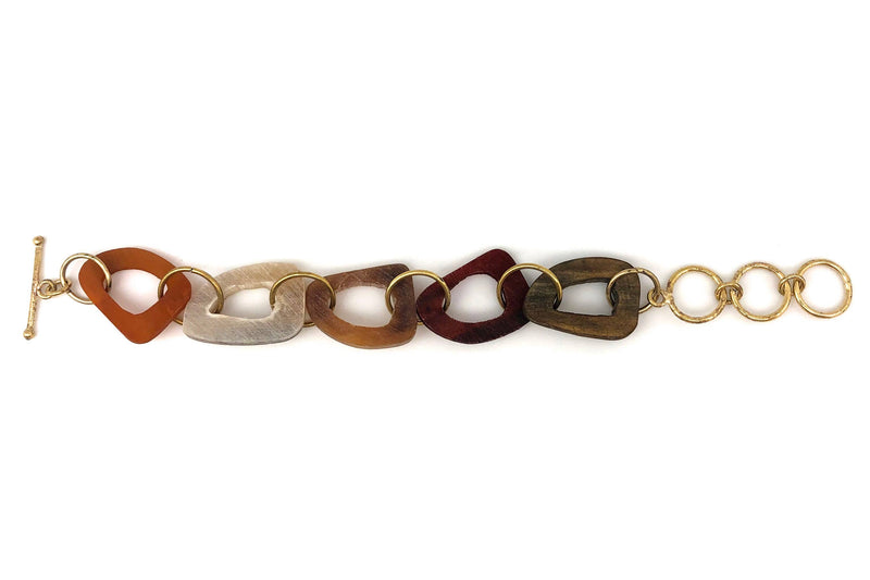 Omala Abstract Shapes Link Bracelet (Sustainable)
