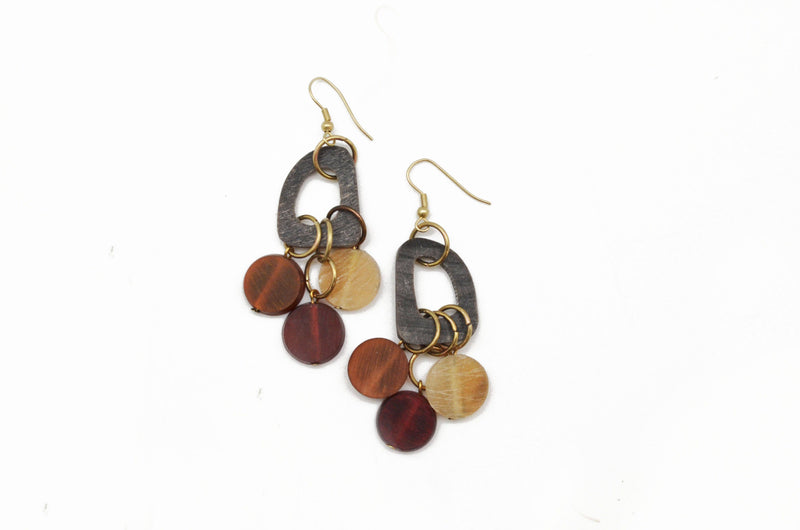 Omala Abstract Dangling Earrings