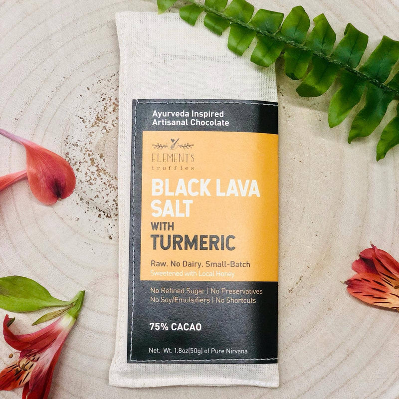 Black Lava Salt infused with Turmeric Chocolate Bar - Masala My Life