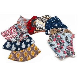 Block-Printed Cotton Face Masks