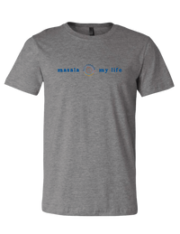 Masala My Life Logo Tee (Gray Heather) - Masala My Life