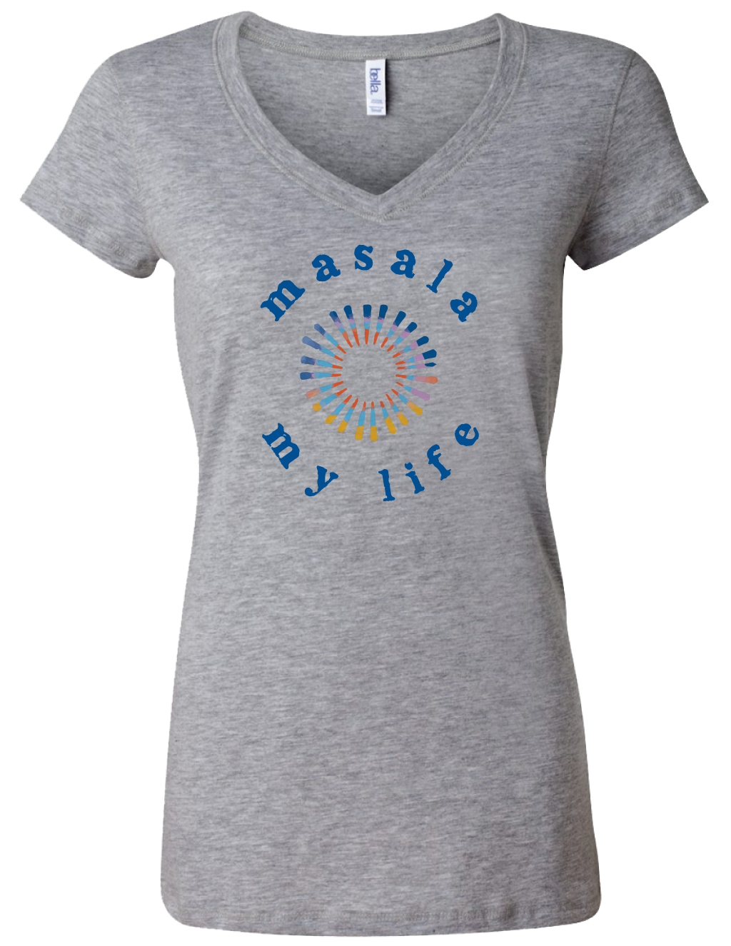 V-Neck Circle Logo Tee - Masala My Life
