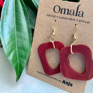 Omala Abstract Rectangle Earrings (Sustainable)