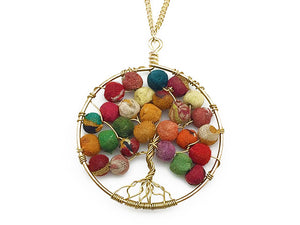 Tree of Life Necklace (Recycled Saris!) - Masala My Life