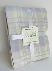 Lavender Check Bamboo Fibre Throw