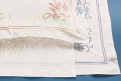 100% Pure Egyptian Cotton Embroidered Boudoir Case - Florence