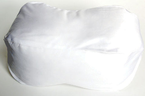 180 thread count 100% Cotton plain white Neck Bolster Case