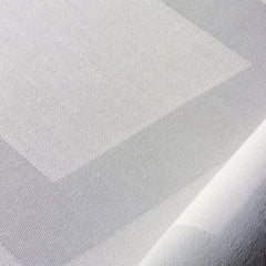 REDUCED TO CLEAR Pure Irish Linen Double Damask Tablecloth's finished in Satin Band.