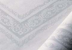 Irish Linen Double Damask Placemat's with Fine Scroll Design
